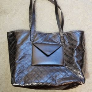 BBW Silver Quilted Tote